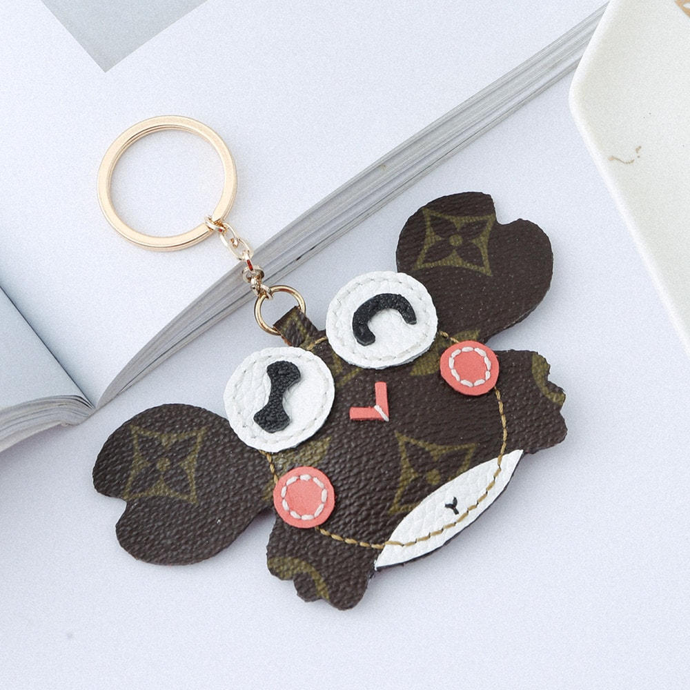 Upcycled Louis Vuitton Cute Crab Keychain