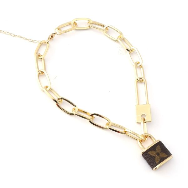 Upcycled Louis Vuitton Lock Necklace