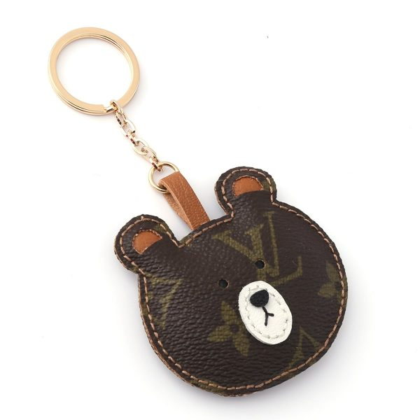 repurposed-lv-brown-bear-keychain-charm