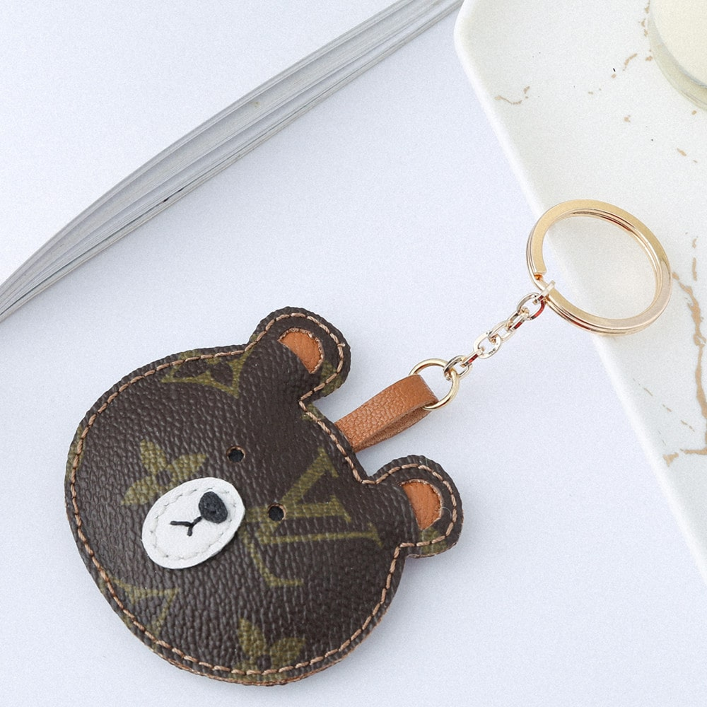 Upcycled Louis Vuitton Brown Bear Keychain