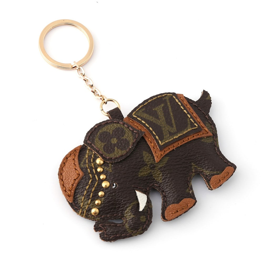 Repurposed LV Elephant Charm/Keychain