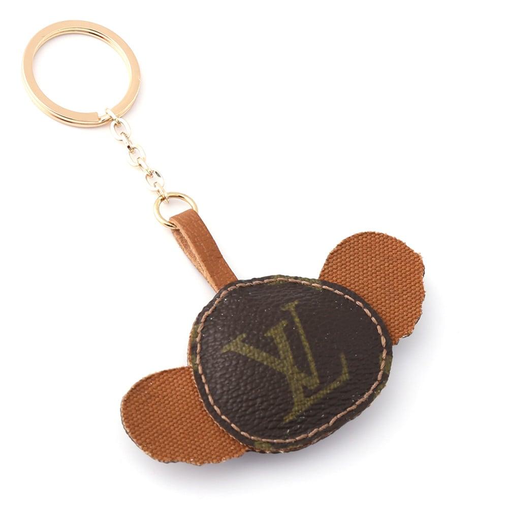 Upcycled Louis Vuitton Cute Koala Keychain