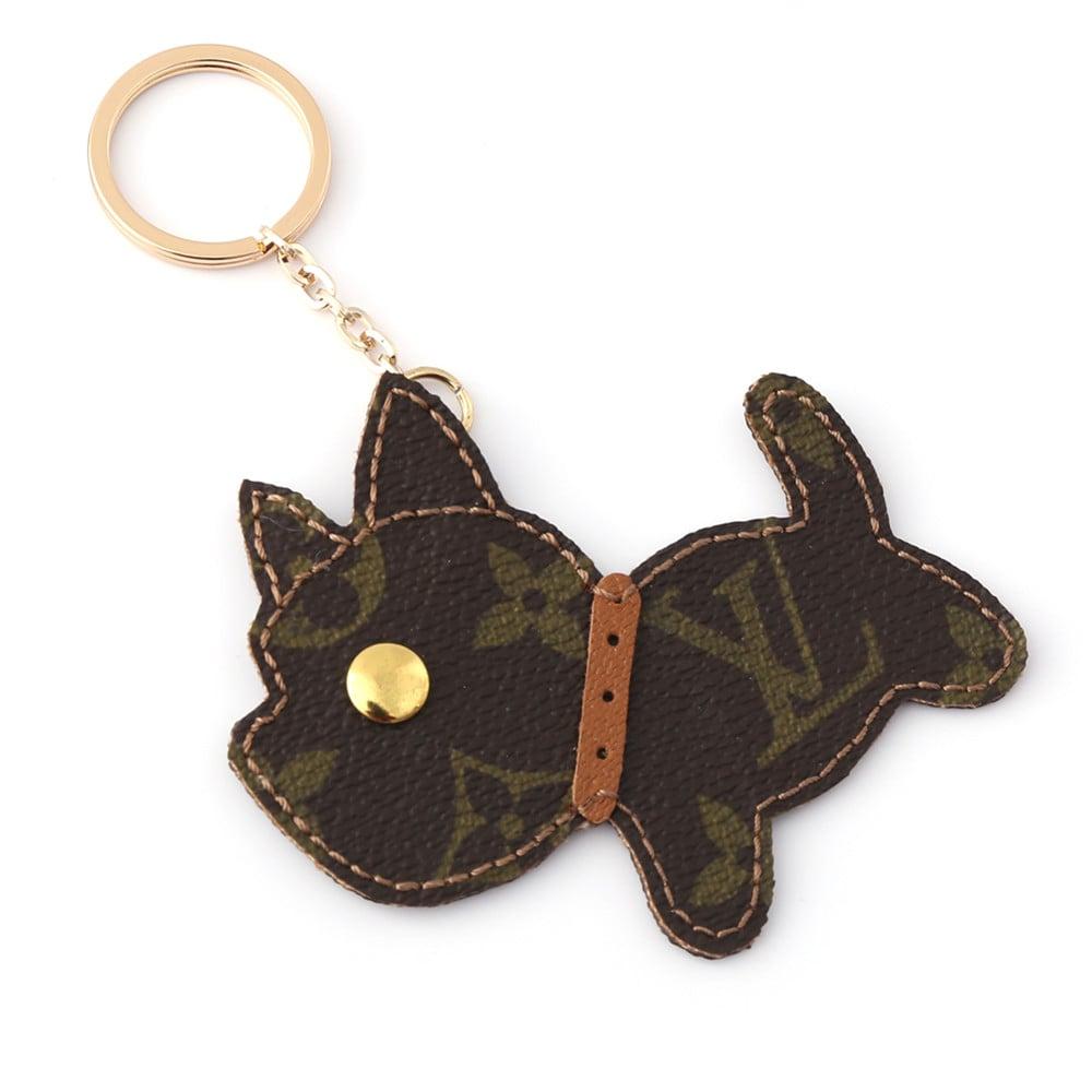 repurposed-lv-running-dog-keychain-charm