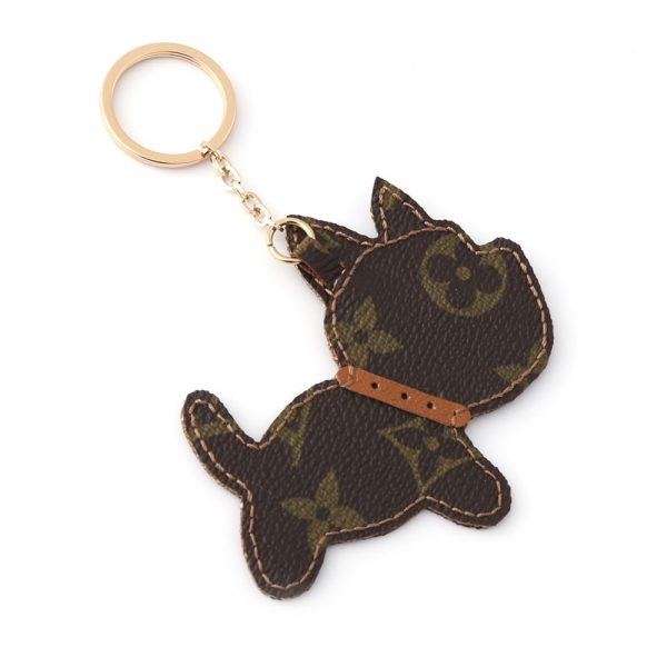 Upcycled Louis Vuitton Running Dog Keychain