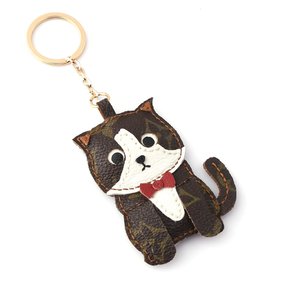 upcycled-lv-cat-keychain-charm