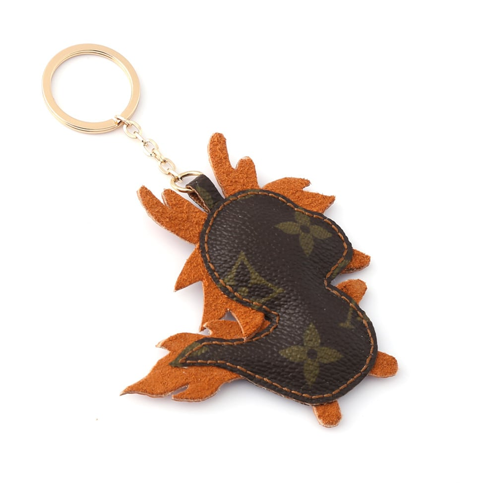 Upcycled Louis Vuitton Cute Dragon Keychain