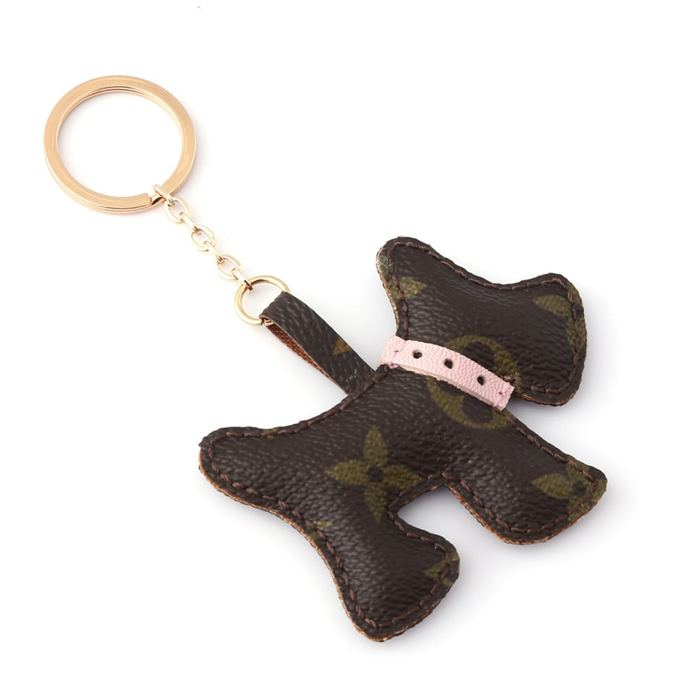 upcycled-lv-cute-puppy-keychain-charm
