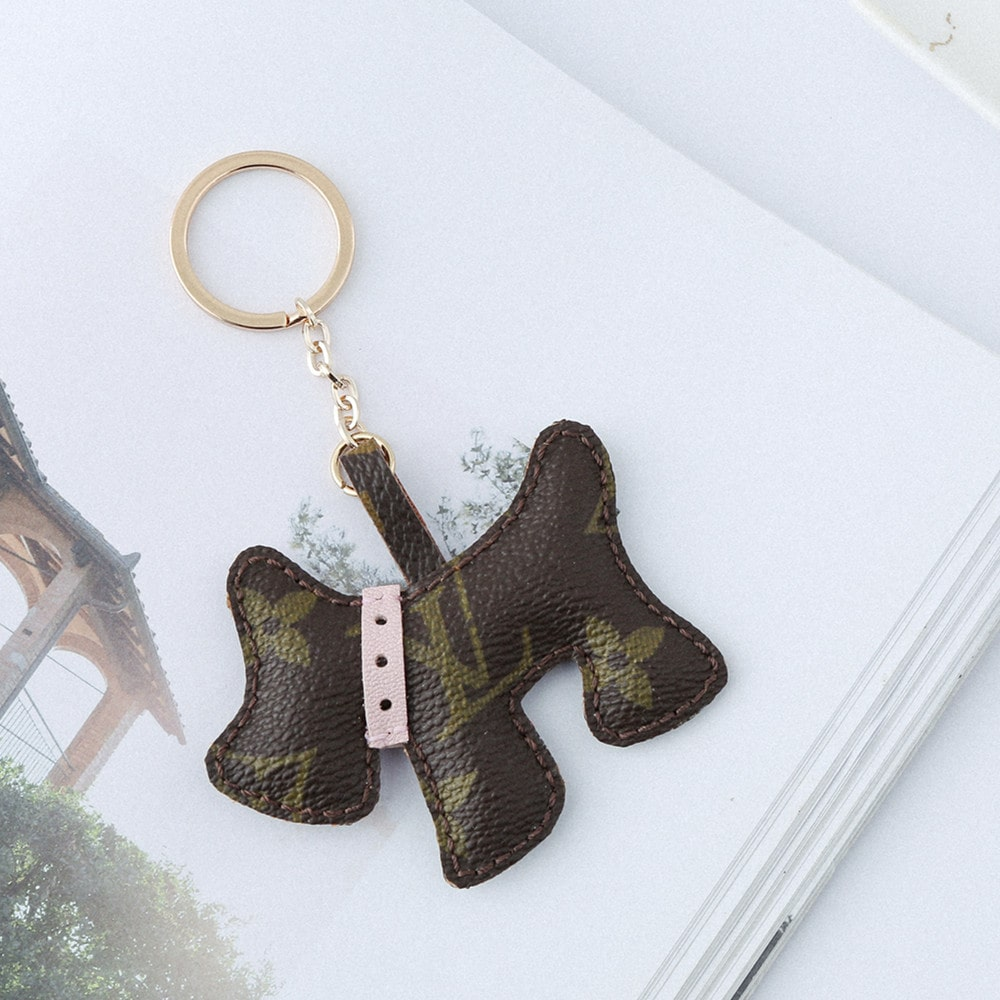 Upcycled Louis Vuitton Cute Puppy Keychain