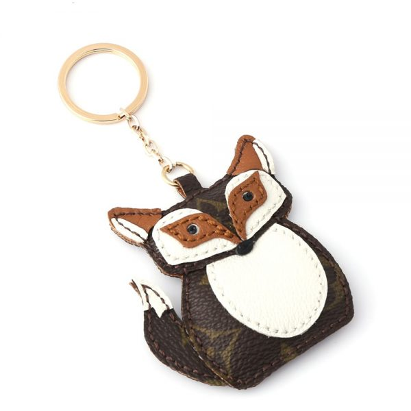upcycled-lv-fox-keychain-charm