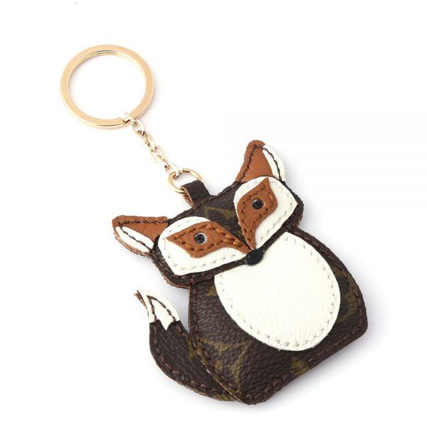 upcycled-lv-fox-keychain-charm