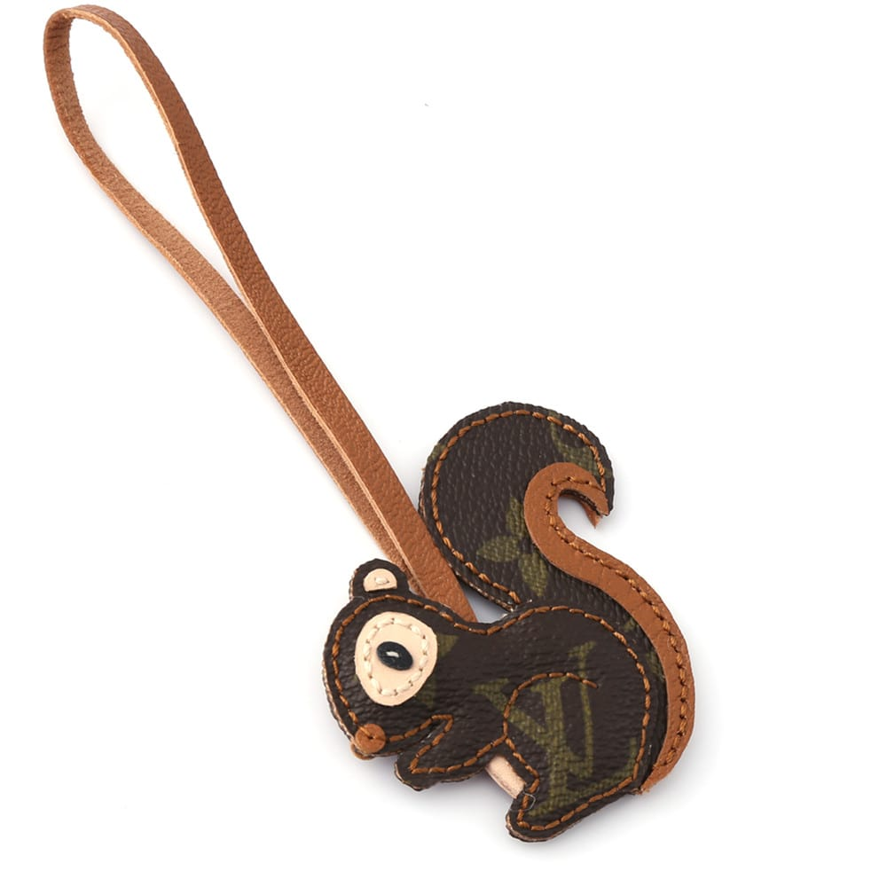 upcycled-lv-squirrel-keychain-charm