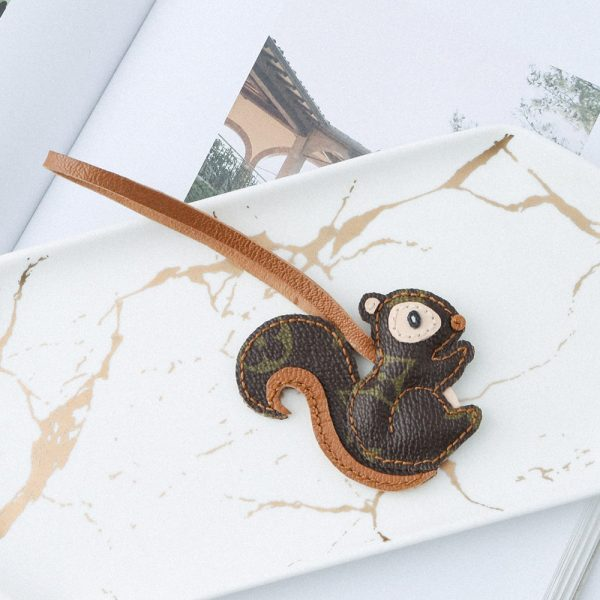 Upcycled Louis Vuitton Smart Squirrel Keychain