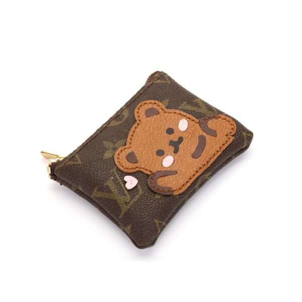 Repurposed LV Bear Coin Pouches