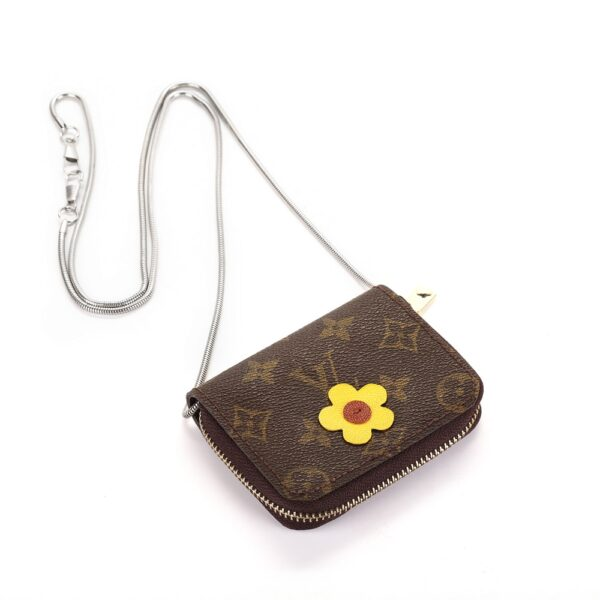 Repurposed LV Card Holder Pouches (Flower)