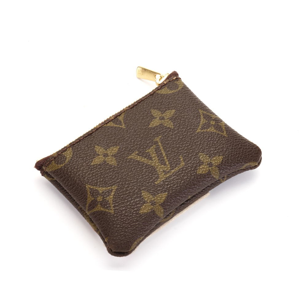 Upcycled Louis Vuitton Cute Corgi Coin Pouch