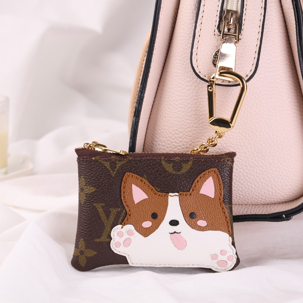 Repurposed LV Corgi Coin Pouches