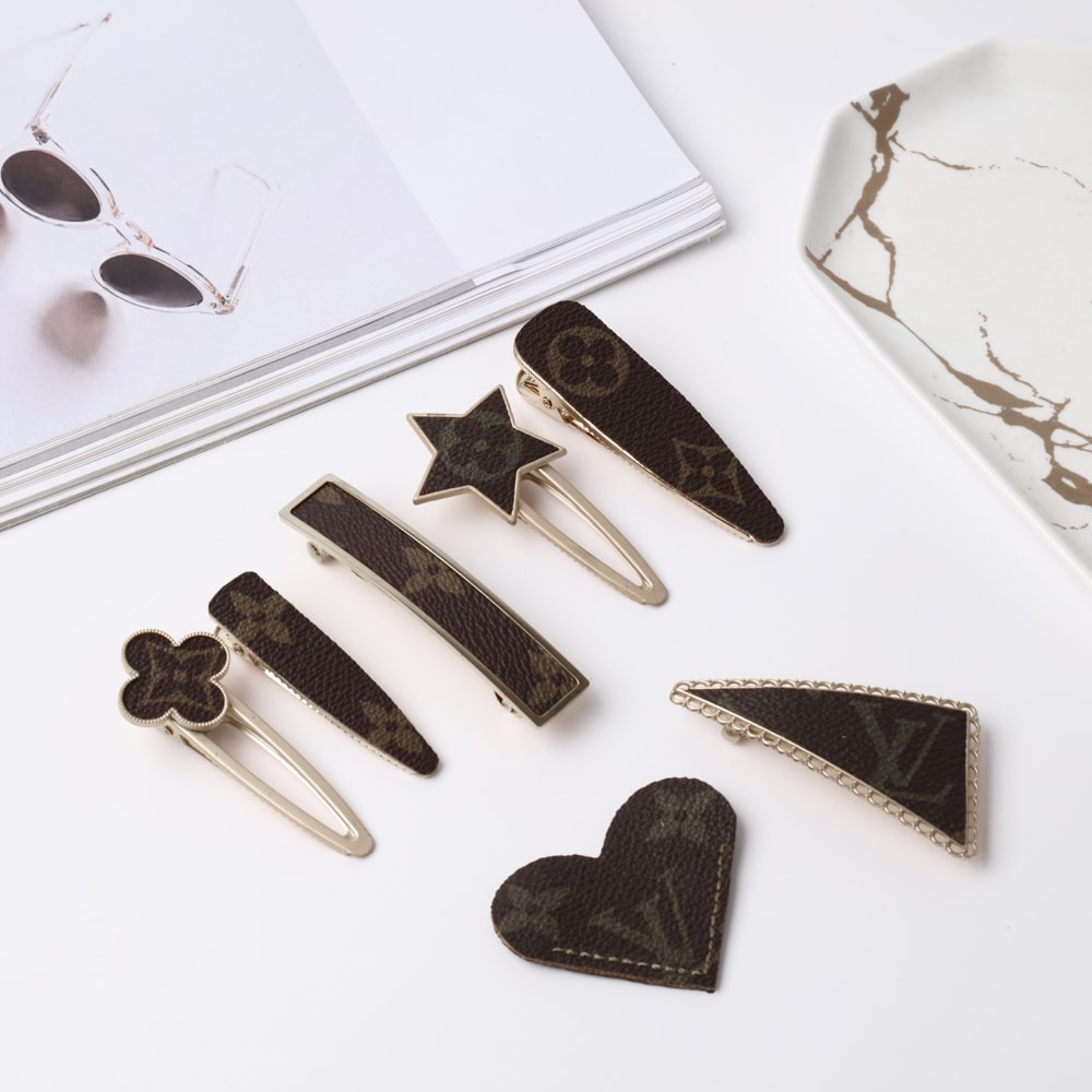 Upcycled Louis Vuitton Hairpins And Bookmark
