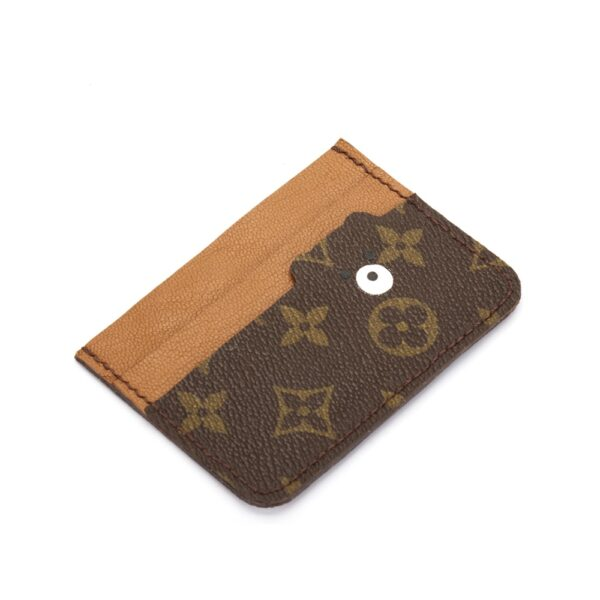 Upcycled LV Bear Card Holder