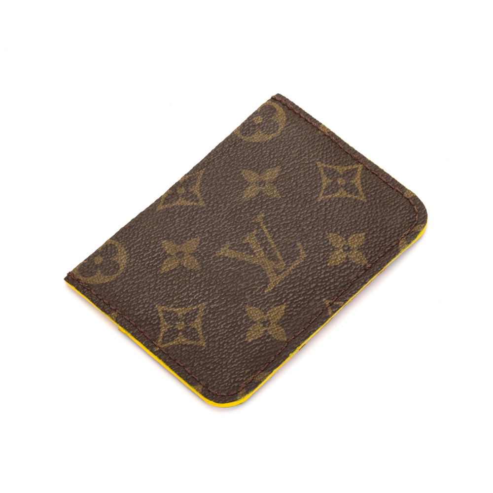 Upcycled Louis Vuitton Happy Bear Card Holder