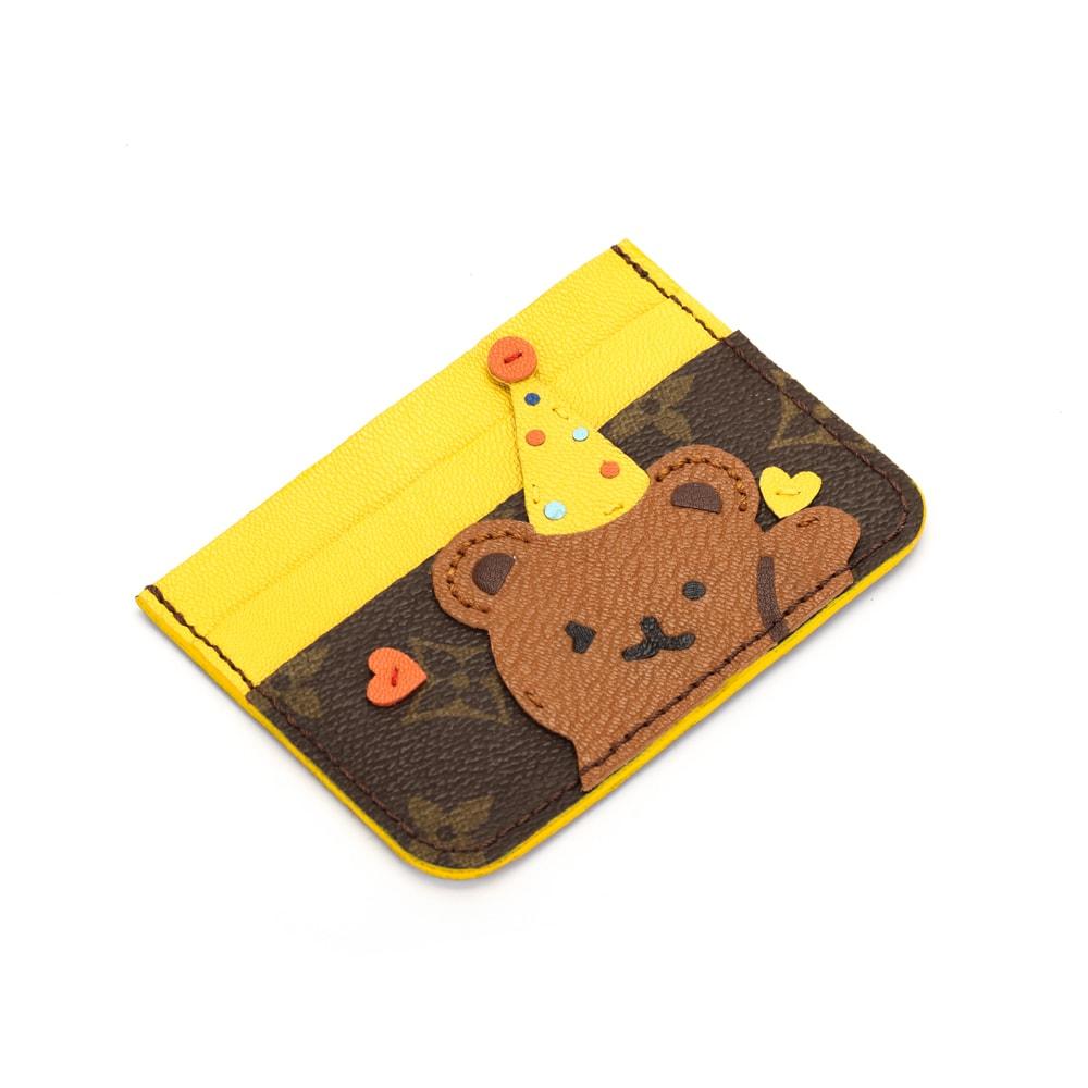 Upcycled LV Bear Card Holder(Hat)