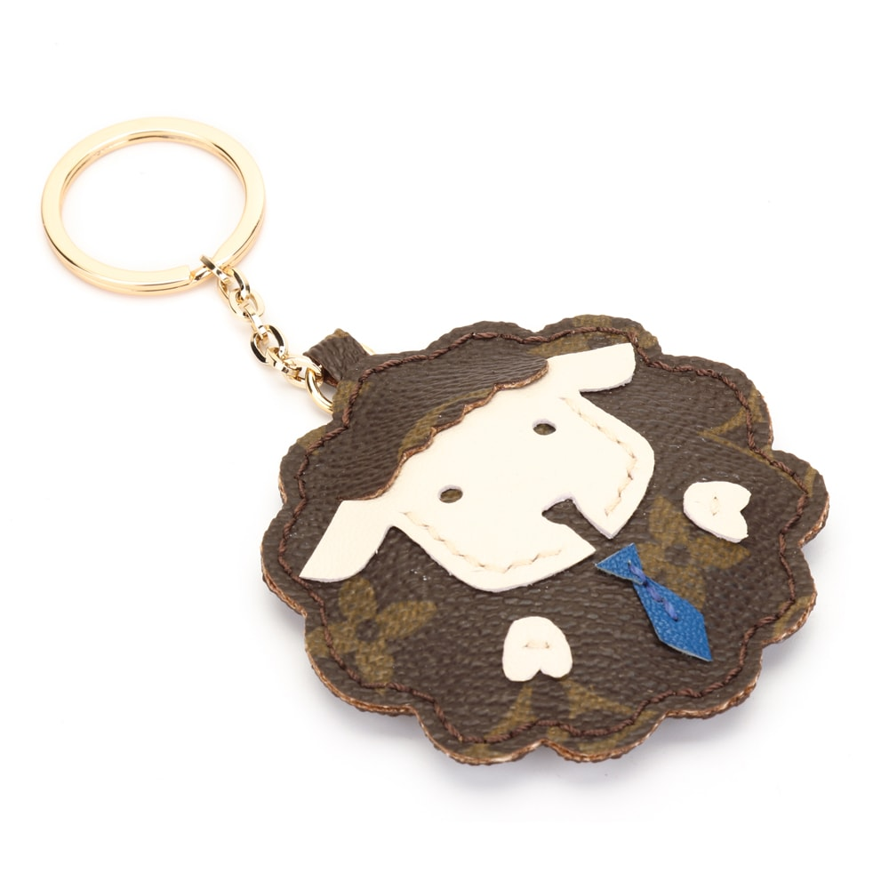 Upcycled LV Cute Sheep Keychain Charm (Tie)