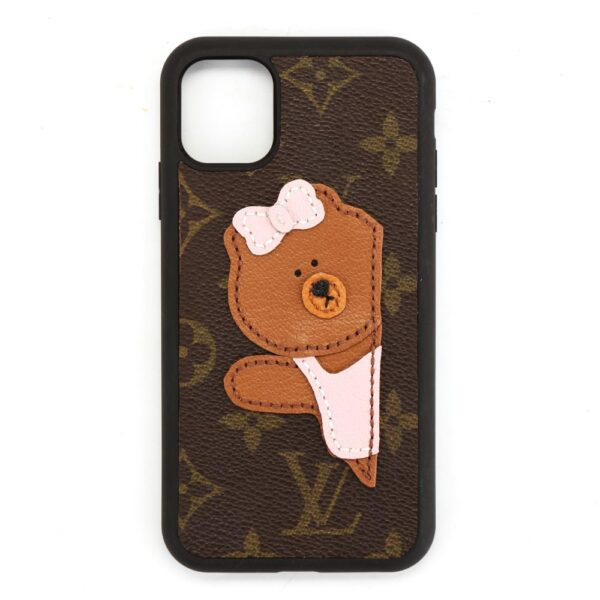 repurposed lv bear phone case